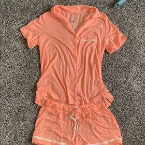 Orange Victoria secret pj set